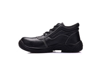 China Engineering Mens Safety Footwear , Embossed Leather Double Density Safety Shoes supplier