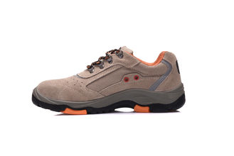 China Engineers Cow Suede Work Safety Shoes , Anti Slip Rubber Sole Shoes For Work supplier