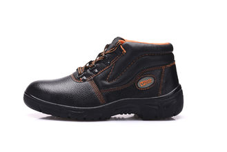 China Durable Industrial Safety Shoes , Brown Logistics Edge Safety Shoes With Lace supplier
