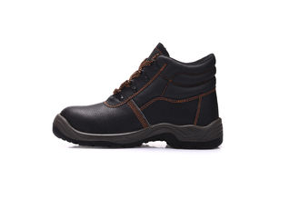 China Breathable Composite Toe Work Shoes , Unisex Leather Safety Shoes For Worker supplier