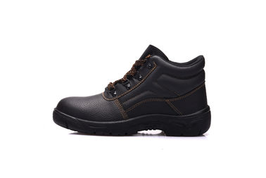 China Anti Puncture Industrial Safety Shoes Double Density Genuine Leather Material supplier