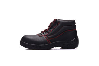 China Cow Leather Upper Soft Sole Safety Shoes High Cut Pu Injection For Women supplier