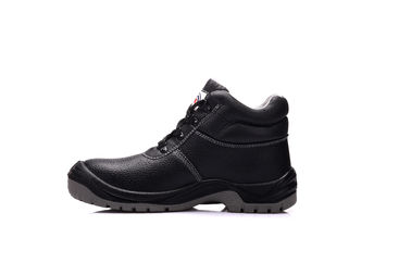 China Genuine Leather Waterproof Safety Shoes Pu Injection Safety Trainers Steel Toe supplier