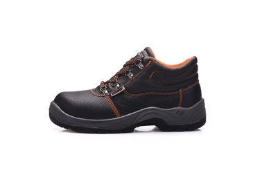 China Breathable Buffalo Leather Executive Safety Shoes With Pu Double Density supplier