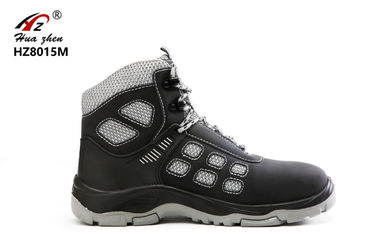 China Sport Design Lightweight Steel Toe Shoes , PU / Rubber Steel Safety Shoes supplier