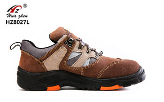 China Brown Unisex Rubber Safety Shoes Kevlar Midsole With Glass Fiber Steel Toe supplier