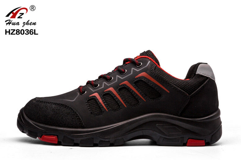 Black Non Slip Sporty Look Safety Shoes