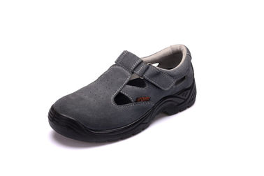 China Suede Leather Sandal Safety Shoes Antistatic With Breathable Mesh Lining factory