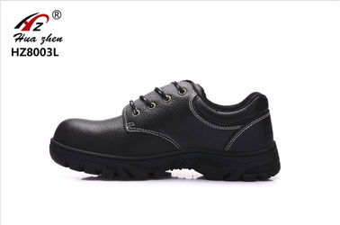 China Cow Split Leather Waterproof Steel Toe Shoes , Injection Black Work Trainers Mens factory