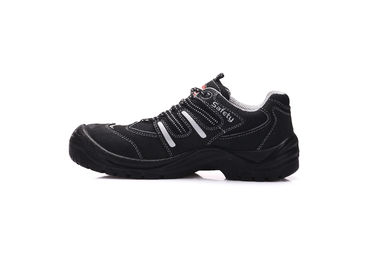 China Breathable Trainer Style Safety Shoes , PU Outsole Black Trainers For Work distributor