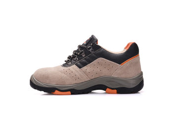 China Anti Oil Brown Leather Safety Shoes , Water Resistant Safety Shoes For Factory factory