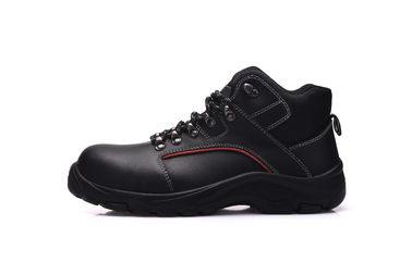 China Antistatic Middle Cut Mens Military Boots , Action Smooth Black Tactical Shoes distributor