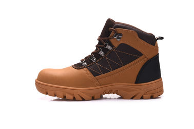 China Genuine Leather Mens Military Style Boots , Steel Toe Caps Insulated Combat Boots distributor