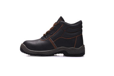 China Breathable Composite Toe Work Shoes , Unisex Leather Safety Shoes For Worker distributor