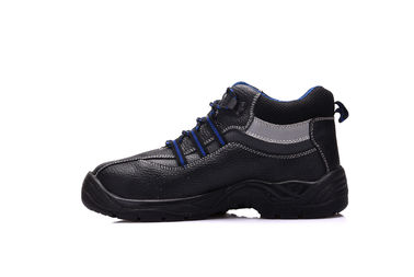 China Working Protective Industrial Safety Shoes Black With PU Injection Outsole distributor