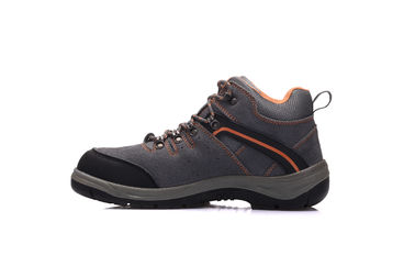 China Sude Leather Lightweight Trainer Safety Shoes Antistatic With Steel Toe Cap distributor