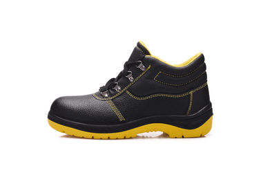 China Genuine Leather Composite Safety Shoes Anti Puncture With Protected Toe distributor
