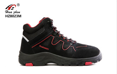 China Black Safety Shoes Sports Type , Rubber Lightweight Composite Toe Safety Trainers distributor